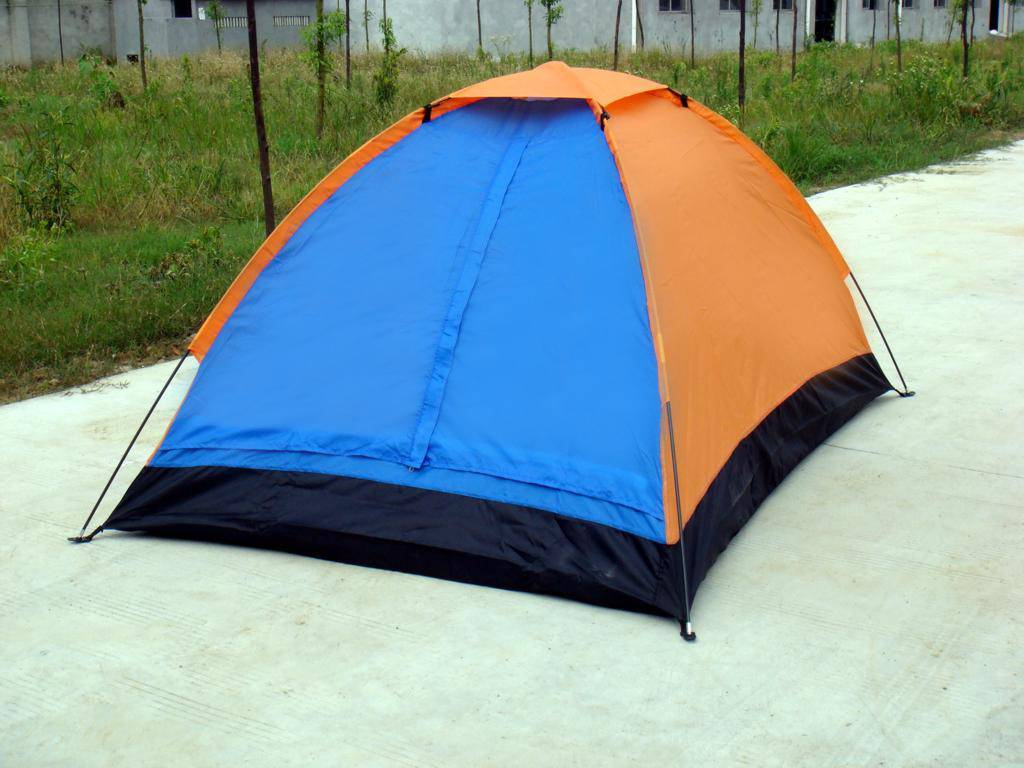 Double camping tent