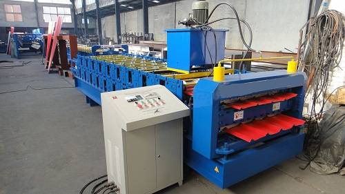 Metal roof tile roll forming machine CE approval