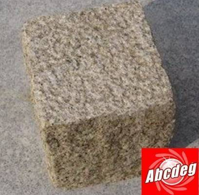 Yellow cube stone,cubestone,stone paver, granite paver