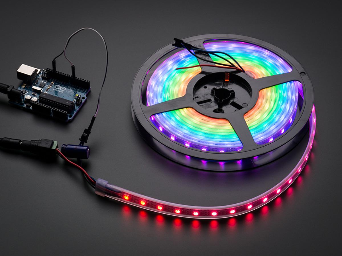 Jercio XT1505(similar to WS2812) 60leds/pixels/m Flexible White PCB Individually Addressable LED