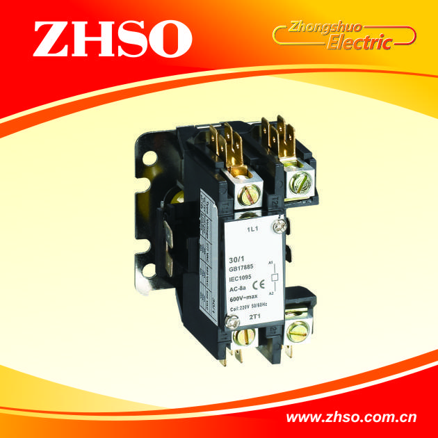 CJX9 1P definite purpose contactor for air conditioner contactor