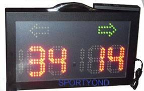 Portable electronic scoreboard for Ice Hockey