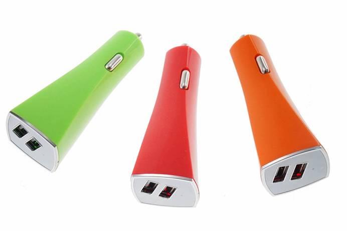 2.1A Dual USB Port Car Charger For IPhone 6 /Plus/5S /IPad/Air/Mini/Samsung /Galaxy s5/ Nexus/HTC