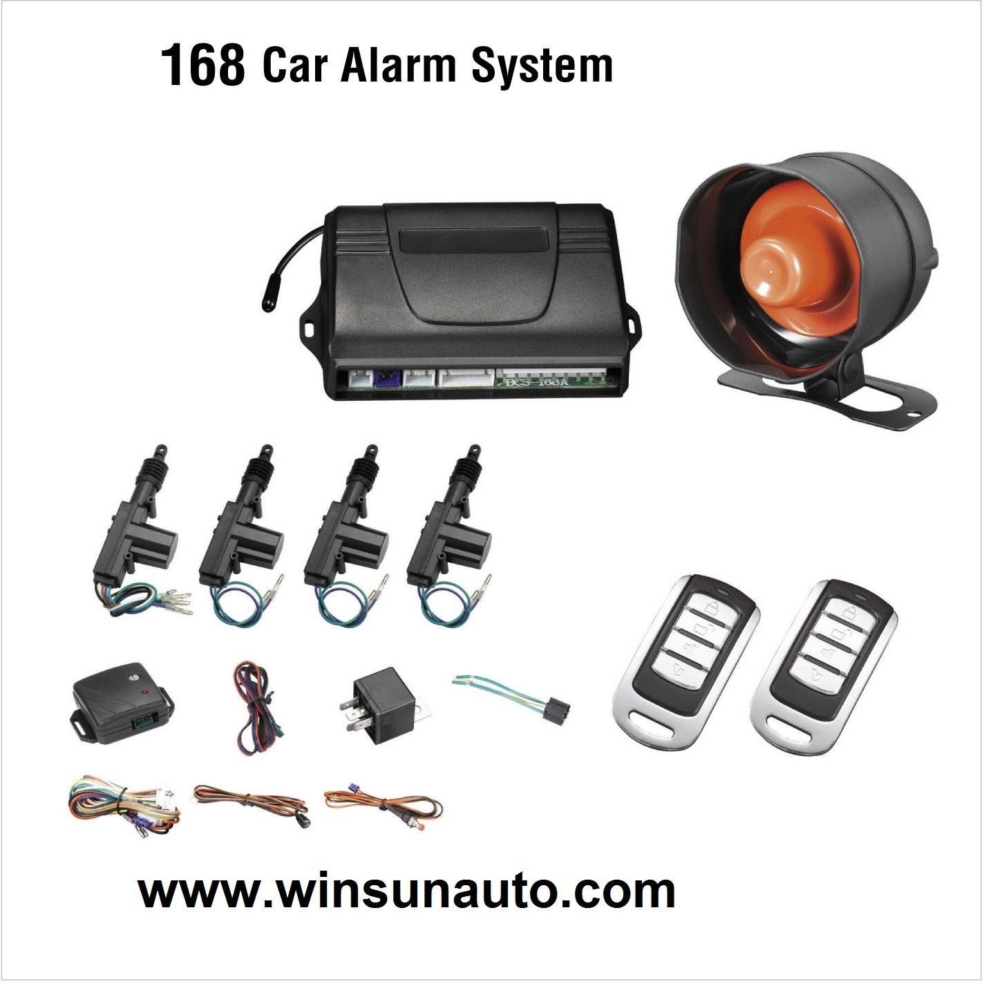 one-way car alarms with external central lock system