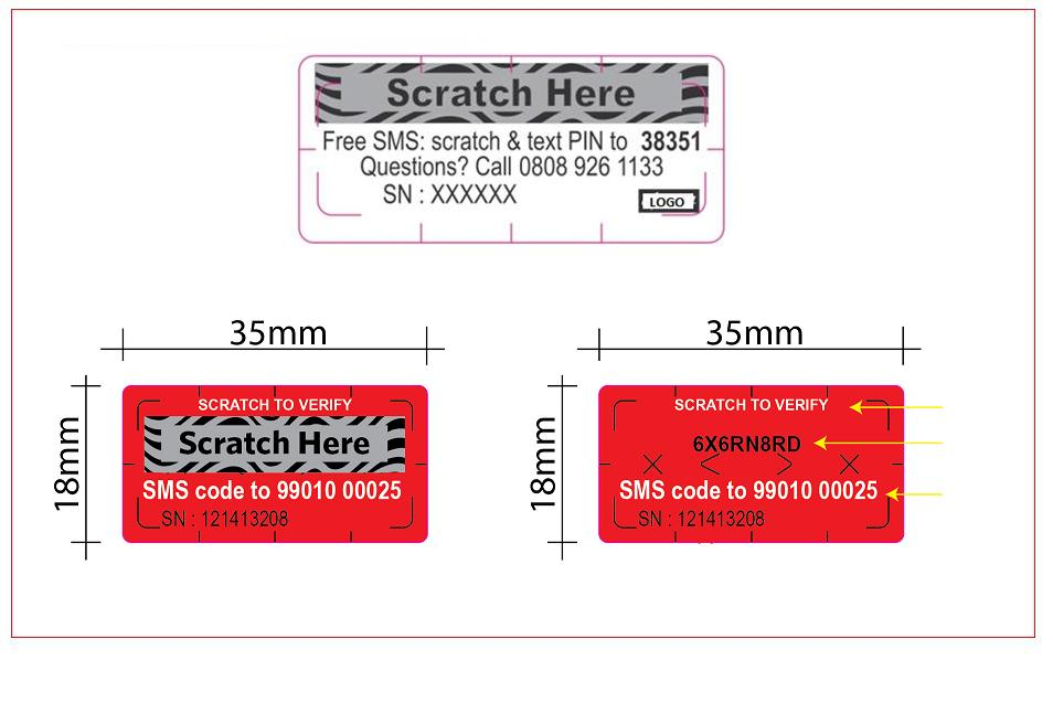 Security labels, anti-counterfeit, tamper evident, scratch cards