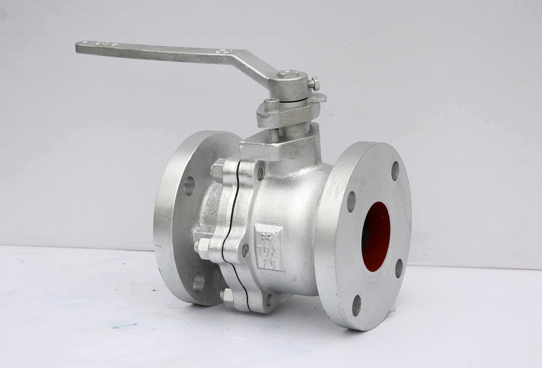 cast iron JIS 10K flange full bore ball valve