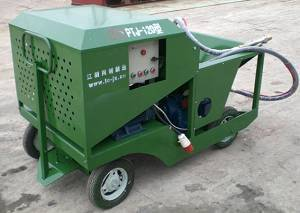Sprayer machine for spraycoat running track