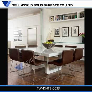 Exclusive modern furniture solid surface dining table