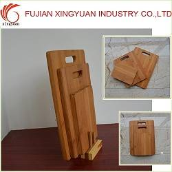 Carbonized Bamboo Cutting Board Set with 3pcs, Right-angled