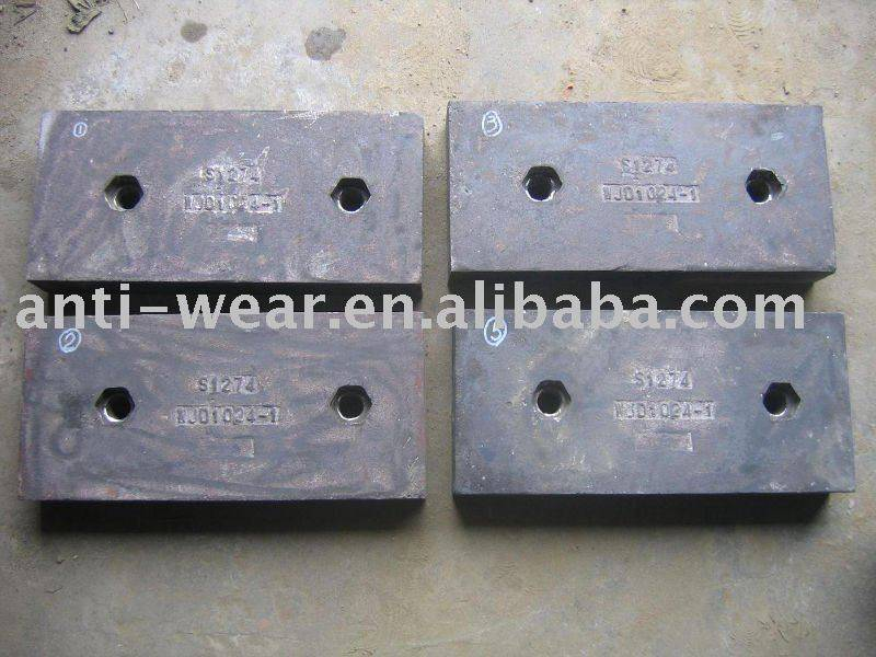 High Chrome White Iron Foundry Products With Good Performance for Ball Mills