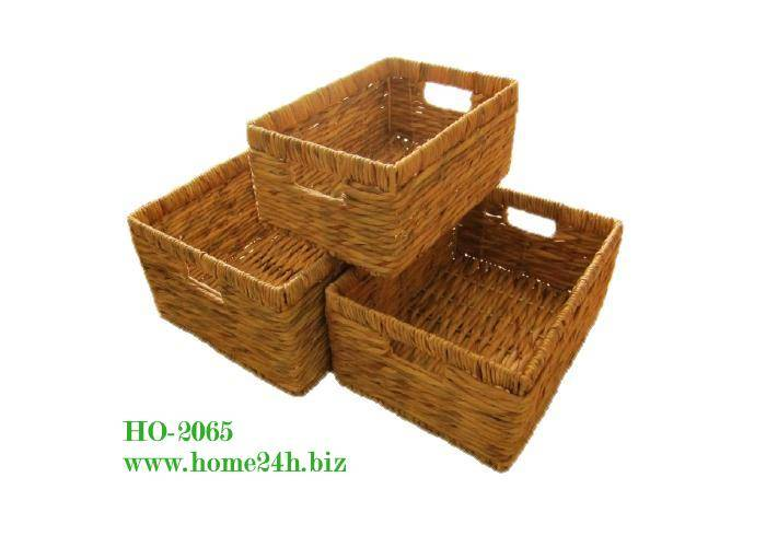 Water Hyacinth Basket s/3, new design & competitive price