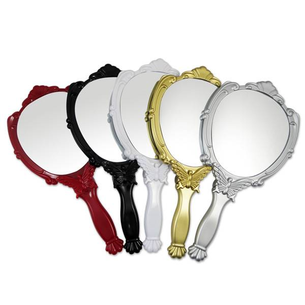 Plastic hand-held mirror with customized LOGO and design