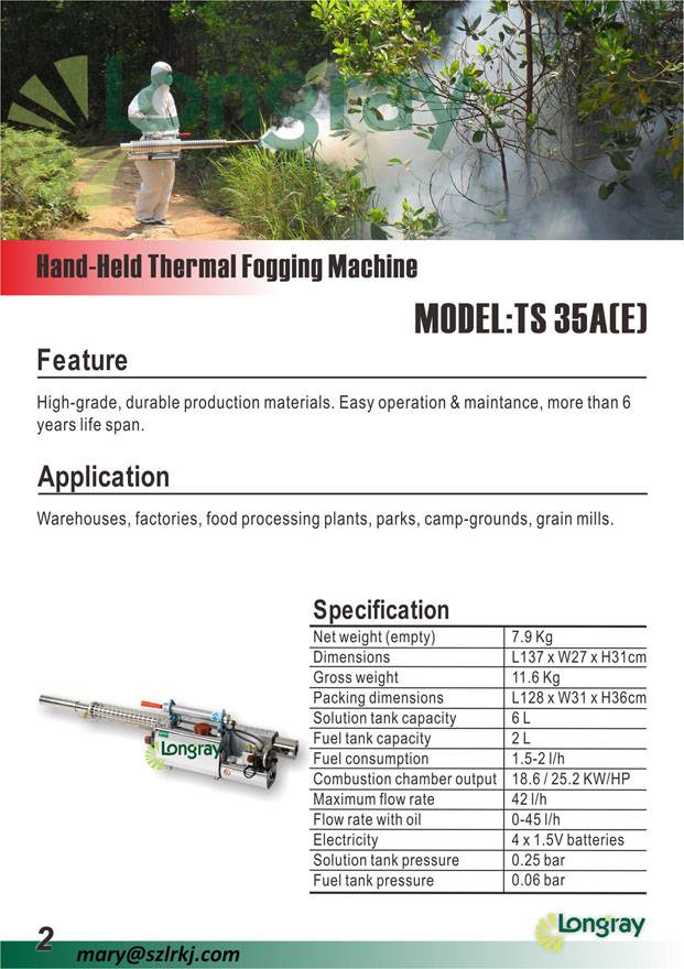 malaria control/pest control thermal fogger