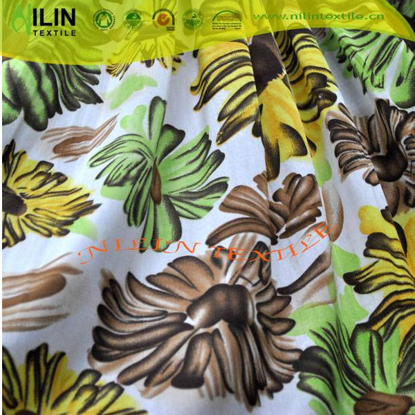 4 way stretch fabric printed FDY polyester spandex