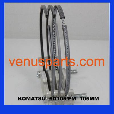 komatsu engine parts piston ring