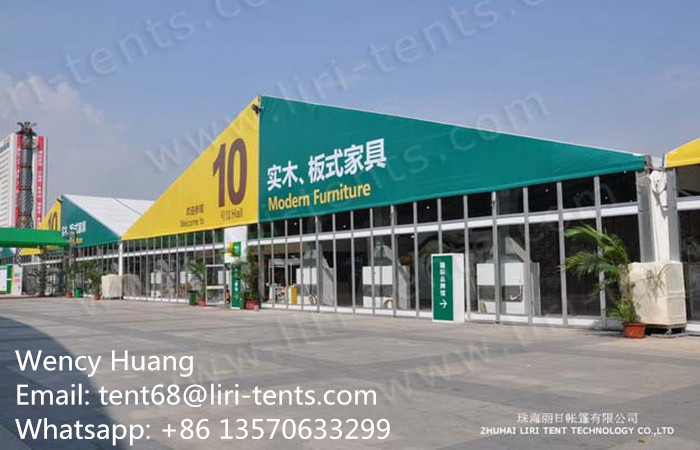 Aluminum Frame Trade Show Tent with Glass Walls