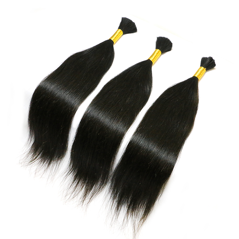 Wholesale 100% Raw Virgin Remy Human Hair Natural Color 12 to 30 Inches Human Braiding Hair Bulk No