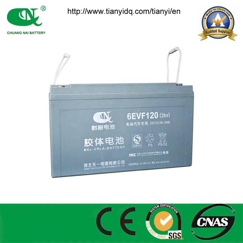 High capacity 12v120ah sealed lead acid battery for sightseeing car