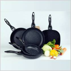 BOTHSIDE MARBLE COATED FRY/WOK PAN