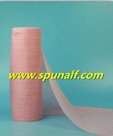 Quick Delivery Plain PET/Viscose punlace Nonwoven Fabric For Household/Industry Cleaning wipes