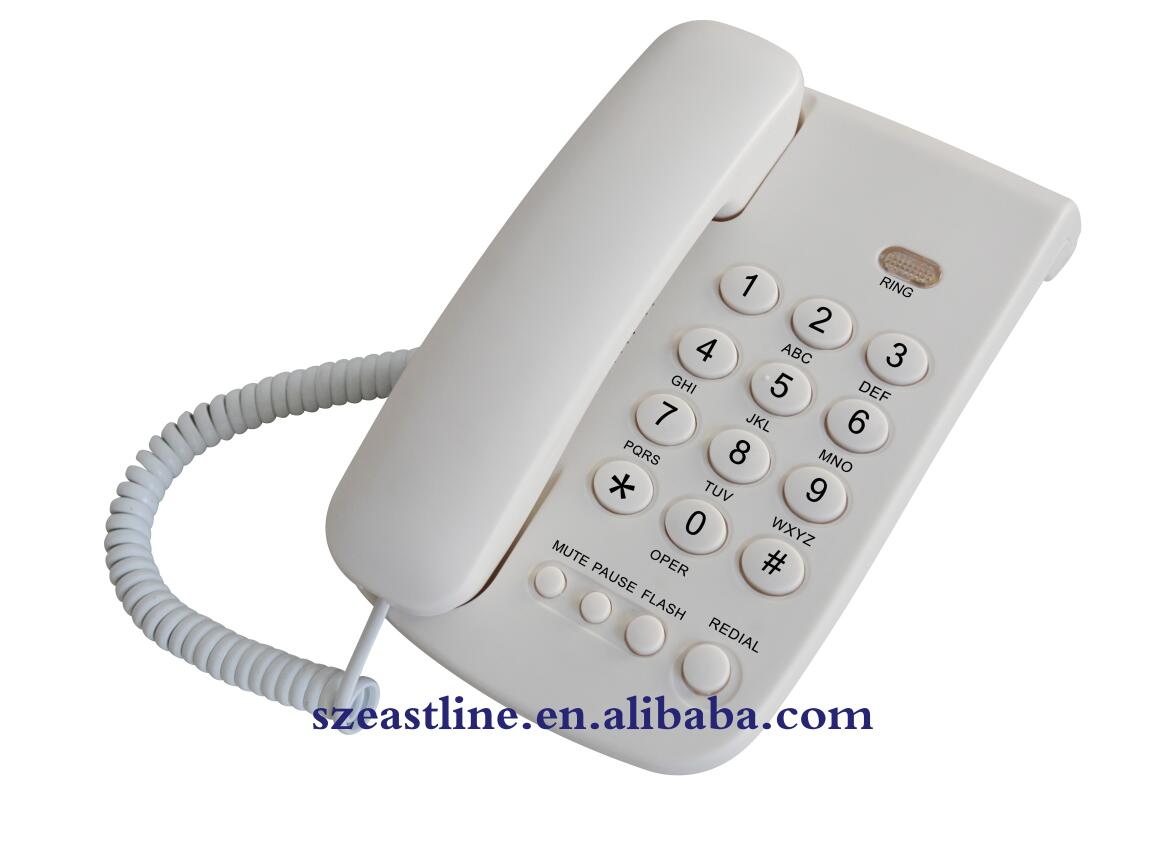 Basic Corded Telephone Set with Pulse / Tone Modes Switchable