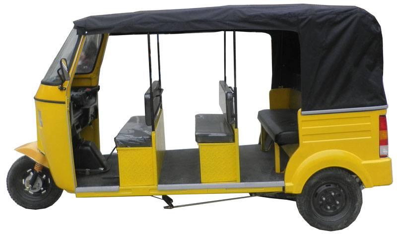4-6Passengers Bajaj Tricycle, 3Rows Tuktuk,3Rows Bajaj Tricycle with Rear Engine