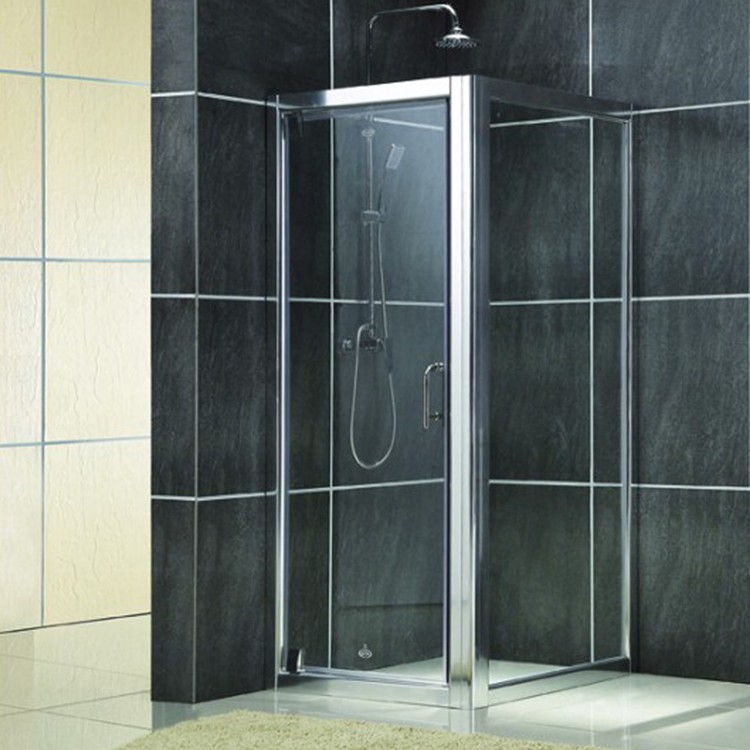 easy installed square hinge glass shower door with framed