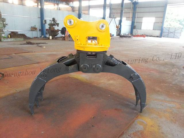 Construction Equipment Excavator Accessories Stone Grapple / Grab Buckets