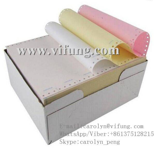 Perforated Continuous Carbonless Bank NCR Paper Supplier