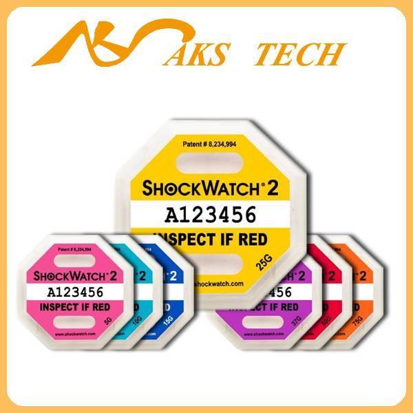 Shockwatch 2 impact package warning sticker