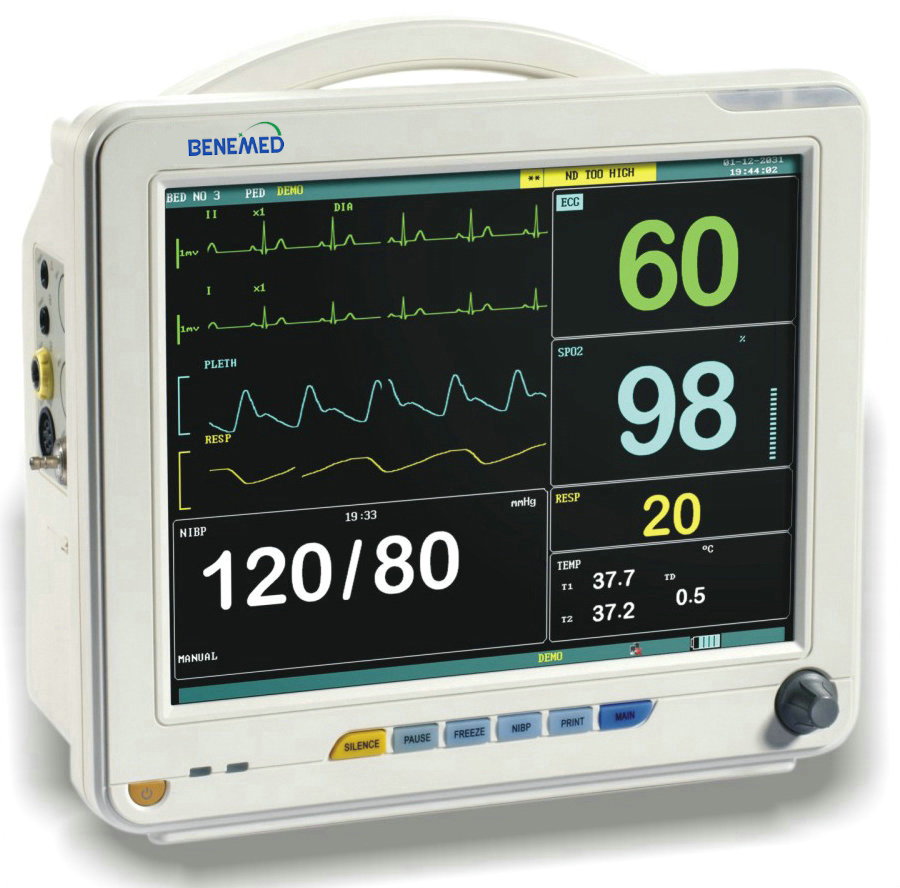 Hot sale Multi-parameter patient monitor BenePM-12