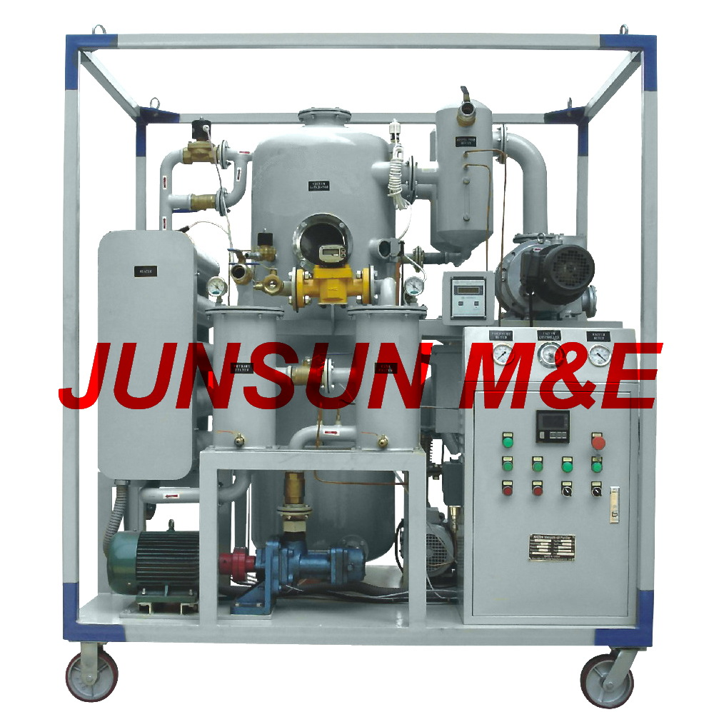 Double Stage Vacuum Dielectric Insulation Oil Purifier, JUNSUN ZYD Transformer Oil Treatment Plant