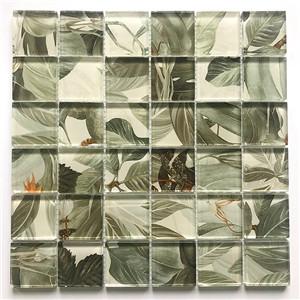 Leaf Inkjet Crystal Mosaic Glossy Hot Melt