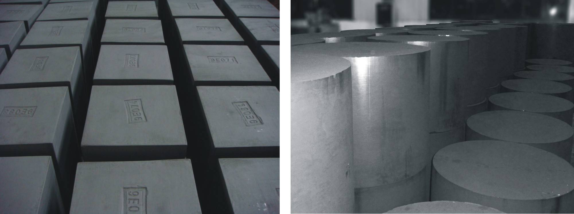 high density high purity isostatic graphite rod and block