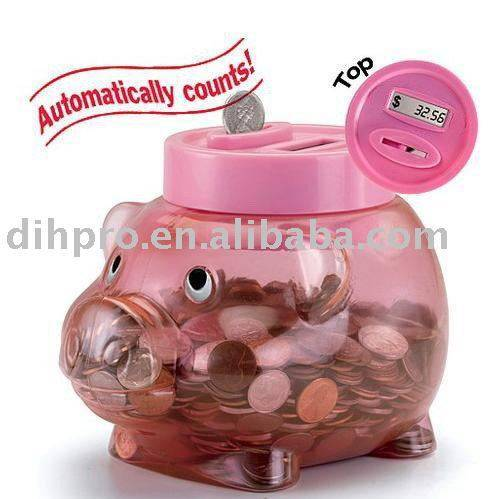 Piggy coin box