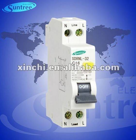 1P+N electron rcbo mini rcd earth leakage circuit breaker