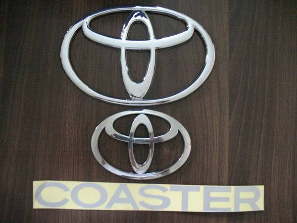Toyota Coaster emblem car logo chromed auto emblem