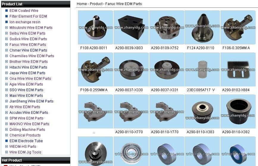 Fanuc wire EDM accessories&consumables(parts)