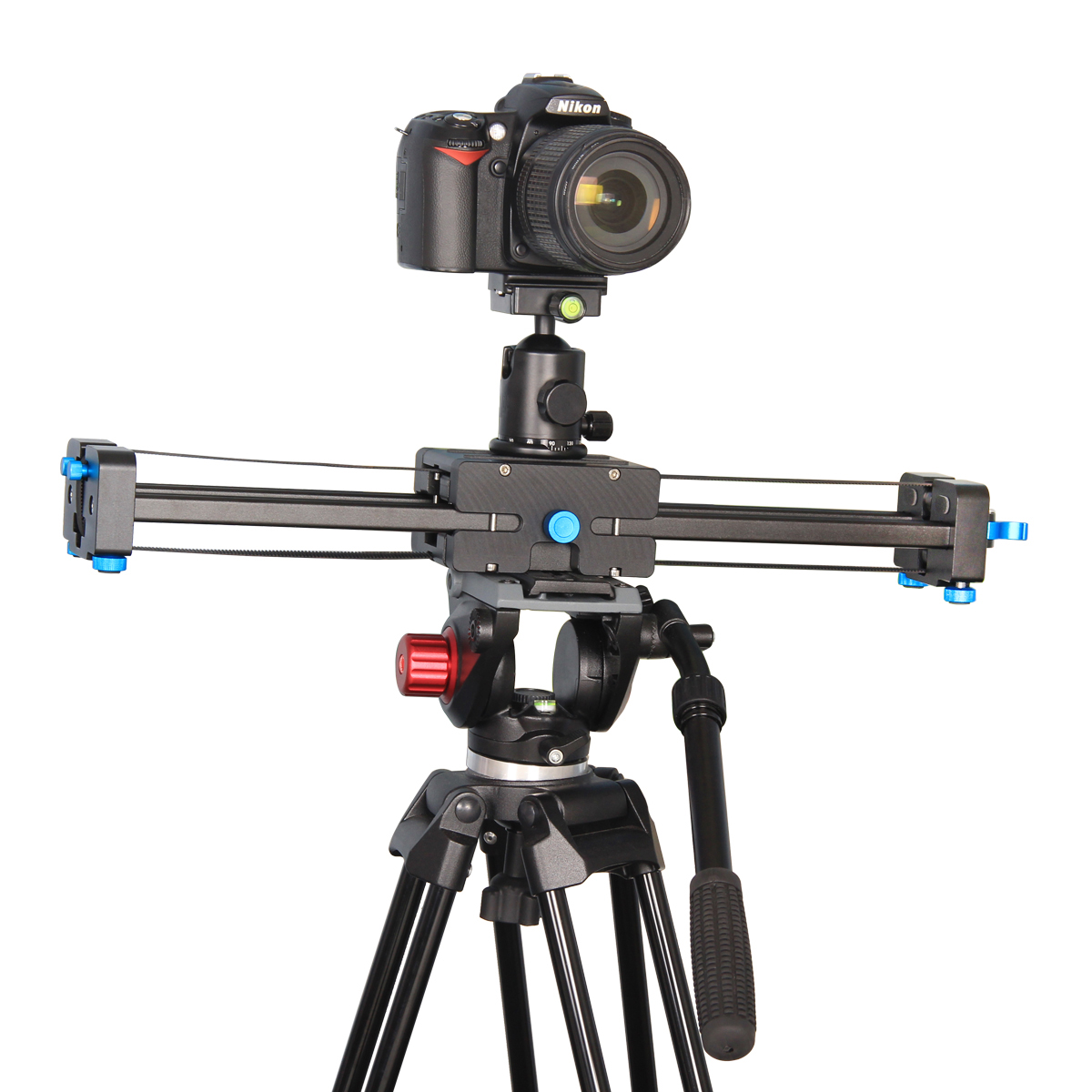 YELANGU 50cm Extendable to 100cm Track Dolly Rail Camera Slider Video Stabilizer For DSLR Camcorders