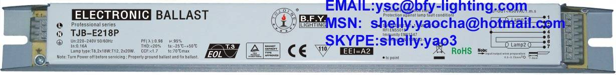 t8 electronic ballast 18w for flourescent