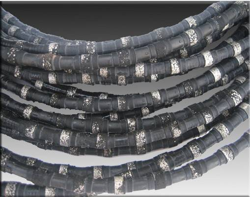 diamond beaded rope cutting marble