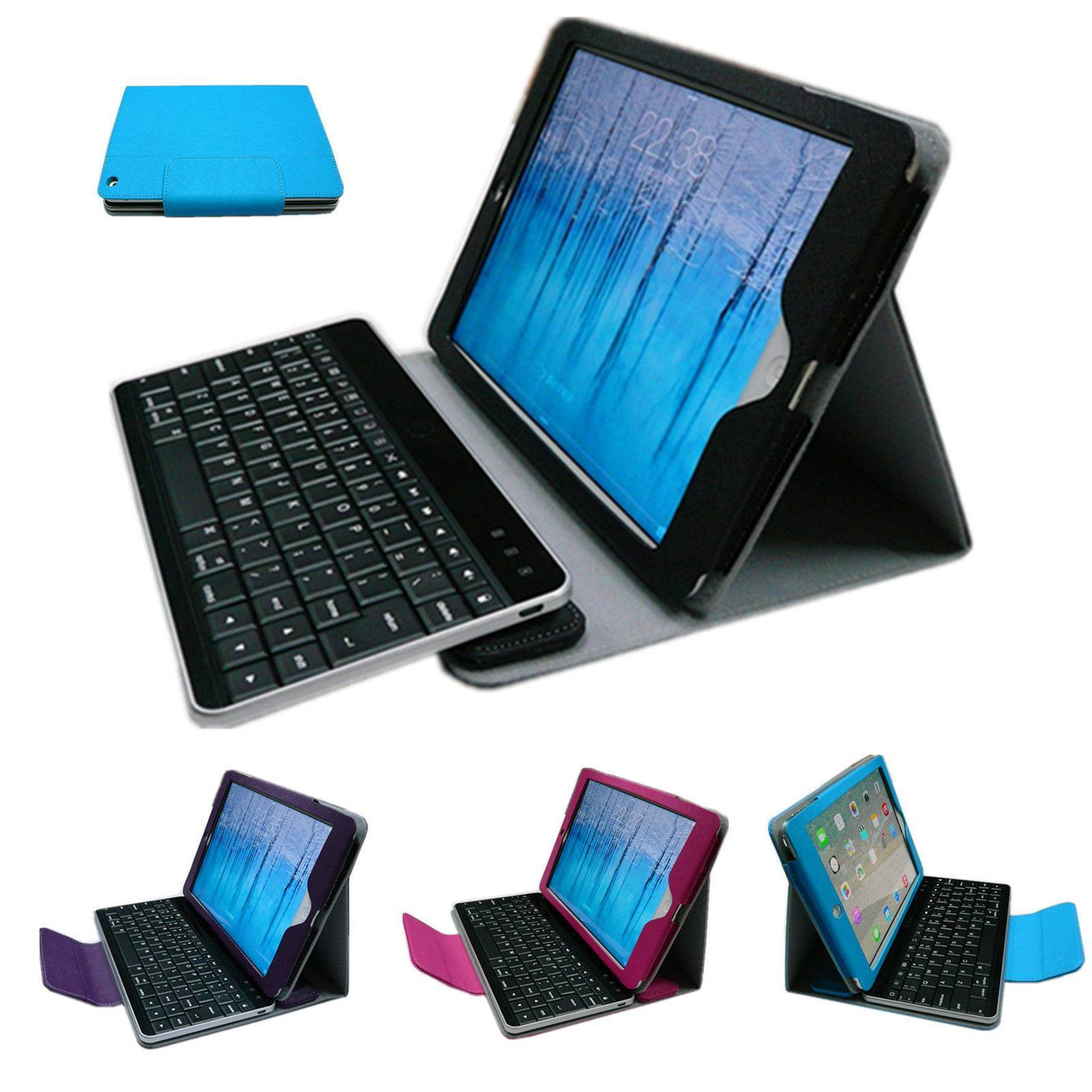 Removable Bluetooth Keyboard Leather Case Smart Cover For Apple iPad Air iPad 5