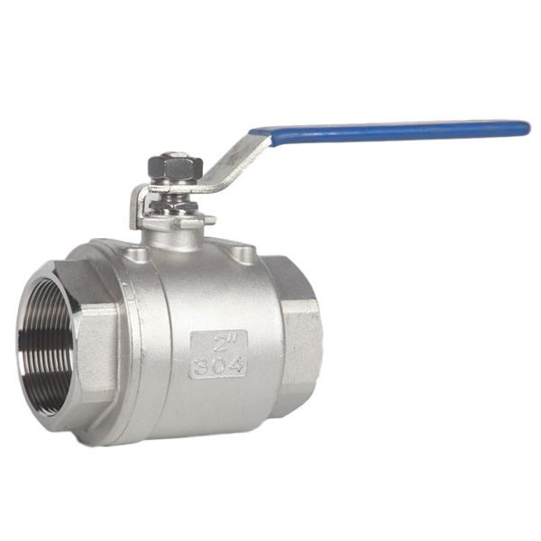 100G 304 2-pieces thread screw ball valves