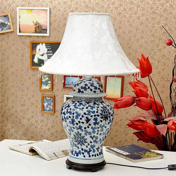 Chinese Blue and White Giner Jar Table Lamp