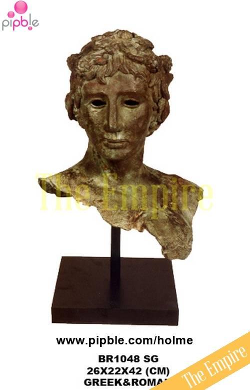 Man's head, Greek & Roman bronze sculpture