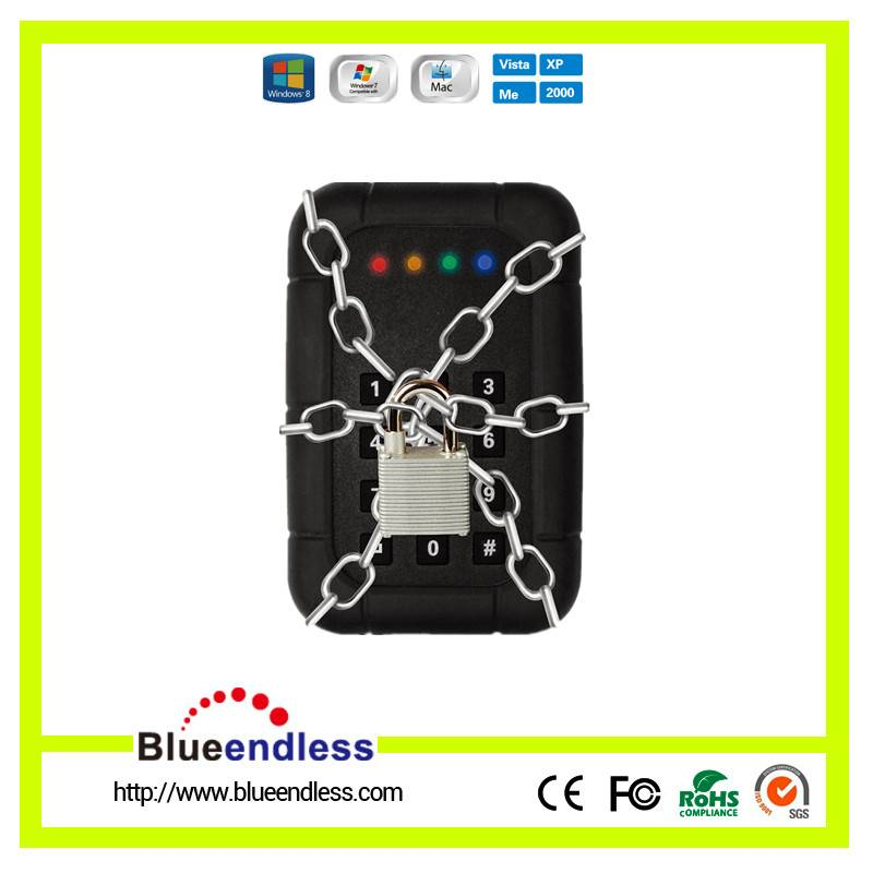 2.5 USB 3.0 Keypad Encryption HDD Enclosure