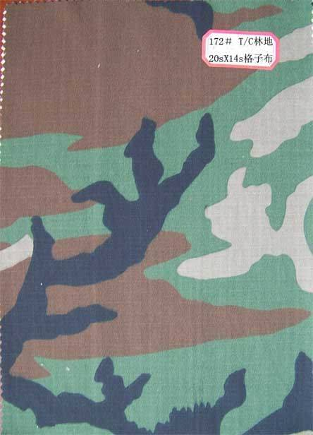 Polyester / Cotton camouflage uniform ripstop Fabric