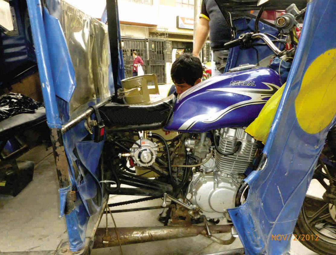 LPG conversion kits for motorcycles