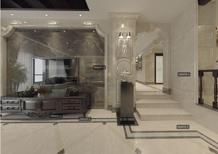 Hot sale 6D Inkjet Marble Tiles Floor tiles Natural Stone Interior Tiles Manufacturer (800X800mm)