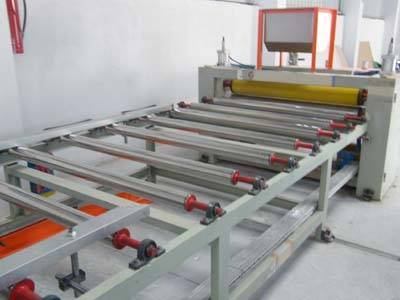 Ceiling board lamination machine